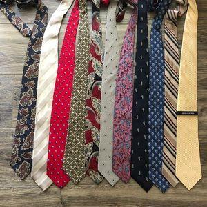 Large Men's Tie Lot Bundle